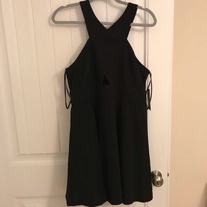 Lulu's Black Cutout Skater Dress